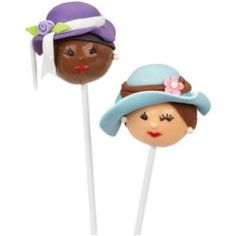 Lovely Ladies Mother's Day Cake Pops. These cake pops are all dressed up with somewhere to go: a celebration in honor of Mom! Dip and decorate these treats in delicious Candy Melts candy.