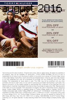 Free Printable Coupons: Tommy Hilfiger Coupons