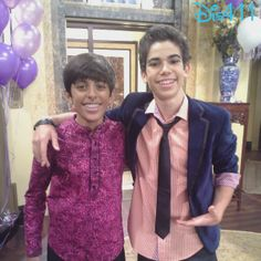 Nice Photo Of Cameron Boyce And Karan Brar Together September 2013 Cast Of Jessie, Jessie Emma, Jessie Disney, Cameron Boyce, Victor Boyce, Karan Brar, Disney Channel Stars, Now And Forever, Special People