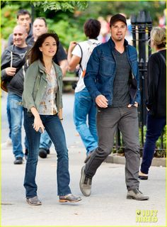 Jay Ryan & Kristin Kreuk Film 'Beauty and the Beast' in NYC | Kristin Kreuk Photos | Just Jared