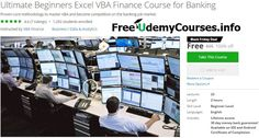 [Udemy #BlackFriday] Ultimate Beginners #Excel_VBA Finance Course for Banking   About This Course  Published 11/2016English  Course Description  This course will provide you with essentials about Visual Basic Applications (VBA) Excel for Finance. VBA is the programming language of Excel and is a fast programming language. When correctly mastered it can automate almost every task that is required in Banking and Investment Banking.  By taking this class you will seethat getting a job in…