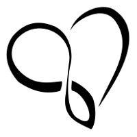 heart tattoo with the infinity symbol within ... represents eternal love