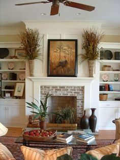 Image result for modern country fireplace