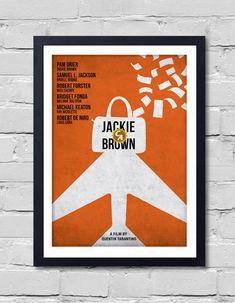 Quentin Tarantino Minimalist Movie Poster Jackie Brown