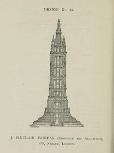 Historical Designs / Utopias / Monuments - Never built - Page 44 - SkyscraperCity Historic Architecture, Classic Architecture, Architecture Design, Big Building, The Past, Tower Design, Architectural Drawings, London, Commonwealth