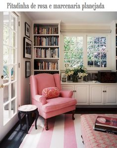 Like the book case behind the chair