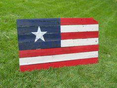 """American Flag Reclaimed Wall Hanger 42"""" x 25"""" by CandBWoodShop on Etsy"""