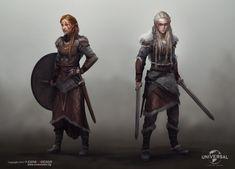 Vikings Concepts by Miro Petrov Viking Character, Female Character Design, Character Concept, Character Art, Dnd Characters, Fantasy Characters, Female Characters, Vikings, Fantasy Inspiration