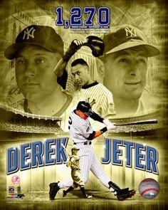 New York Yankees Derek Jeter Lou Gehrig Photofile 8x10 Photo