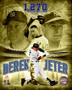New York Yankees Derek Jeter Lou Gehrig Photofile 8x10 Photo