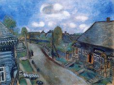 """Pharmacy in Vitebsk"" (1914) by Marc Chagall"