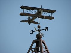 The weather vane at the old Akron Airport