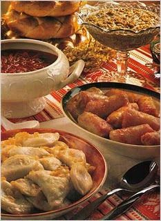 Ukrainian Christmas Feast. Making my mouth water... nom nom nom