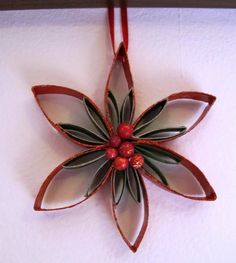 Read information on DIY Christmas Diy Paper Christmas Tree, Paper Christmas Decorations, Quilling Christmas, Noel Christmas, Diy Christmas Ornaments, Holiday Crafts, Paper Towel Roll Crafts, Toilet Paper Roll Art, Rolled Paper Art
