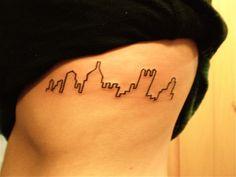 Pittsburgh skyline tattoo