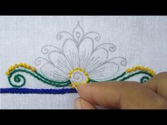 Hand Embroidery, Flower Embroidery Design for Dresses - YouTube