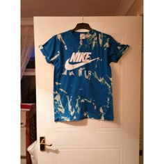Unisex Customised Nike Air Acid Wash Tie Dye T Shirt Sz Med ($24) ❤ liked on Polyvore featuring tops, t-shirts, black, women's clothing, tiedye t shirts, checkered top, acid wash t shirt, black tee and unisex tees