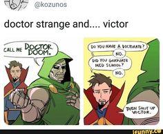 Found on iFunny Funny Marvel Memes, Marvel Jokes, Dc Memes, Avengers Memes, Funny Comics, Marvel Dc Comics, Marvel Avengers, Marvel Heroes, Doctor Strange