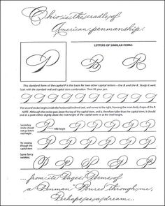Learning To Write Spencerian Script Improve Your Handwriting, Beautiful Handwriting, Calligraphy Handwriting, Handwriting Practice, Calligraphy Letters, Penmanship, Calligraphy Practice, Lettering Styles, Script Lettering