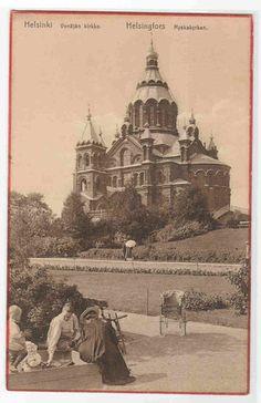 Venajan Kirkko People Helsinkl Helsingfors Finland 1910c Postcard | eBay