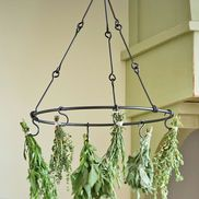 Herb Drying Rack... Modify to hang over shop sink to dry paint brushes???