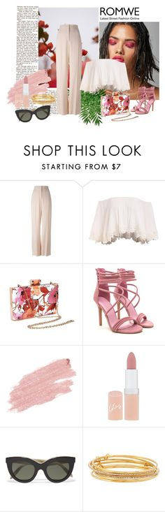 """""""romwe"""" by dina-97 ❤ liked on Polyvore featuring GUINEVERE, STELLA McCARTNEY, Jane Iredale, Rimmel, Victoria Beckham and Kate Spade"""