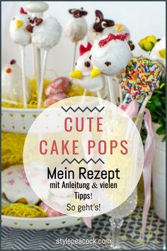 Niedliche Cake Pops. Nicht nur zu Ostern sind die putzigen Kuchen-Lollis ein tolles Mitbringsel und eine süße Leckerei! Rezept und viele Tipps mit einem Klick! #cakepops #backen #osterbäckerei #ostern #easter #baking #osterlamm #backtipps #kuchen #cake Cupcakes, Lifestyle Blog, Cute, Desserts, Diy, Food, Easter Food, Yummy Cakes, Treats
