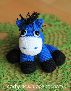 Sweet crocheting time: Crochet donkey...there is a link to a free pattern.