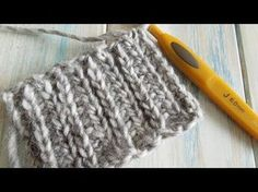 (crochet) How to create knitting with crochet (not Tunisian) half double crochet in rows - YouTube
