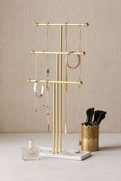 Cleaning Jewelry Urban Outfitters Trigem Tabletop Jewelry Stand - It seems that Urban Outfitters is having a neverending home sale this summer, and we don't hate it. Shop our edit. Jewellery Storage, Jewellery Display, Jewelry Organization, Jewelry Organizer Stand, Jewelry Holder Stand, Organization Ideas, Jewellery Holder, Bedroom Organization, Mirrors Urban Outfitters