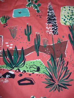 Vintage Southwest Mission Desert Bark Cloth:
