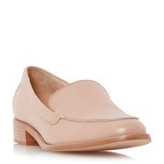 DUNE LADIES GARRA - Stitch Detail Slip-on Cut Flat Loafer Shoe - blush | Dune Shoes Online