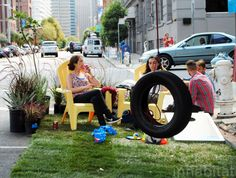 """San Francisco - BAR Architects teamed up to create """"In My Backyard"""", a fun temporary backyard in a parking space."""