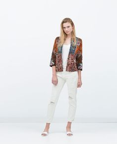 Image 1 of EMBROIDERED PRINTED JACKET from Zara