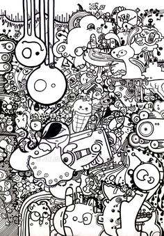 come in and freak out by julisart on DeviantArt Graffiti Doodles, Graffiti Drawing, Art Drawings, Coloring Book Pages, Coloring Sheets, Vexx Art, Doodle Art Designs, Free Adult Coloring, Kawaii Doodles