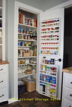 32 Creative DIY Storage Rack For a Your Small Kitchen Small Kitchen Remodel Creative DIY Kitchen Rack Small Storage Small Pantry Organization, Kitchen Pantry Design, Kitchen Organization Pantry, Kitchen Pantry Cabinets, Diy Kitchen Storage, New Kitchen, Kitchen Decor, Organizing Ideas, Kitchen Ideas
