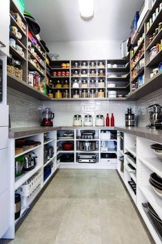 A Large Pantry Was A Must-Have For My Kitchen Remodel! A Large Pantry Was A Must-Have For My Kitchen Remodel!c… - Experience Of Pantrys Kitchen Pantry Design, Kitchen Organization Pantry, Kitchen Pantry Cabinets, Cozy Kitchen, Home Decor Kitchen, Interior Design Kitchen, Home Kitchens, Wall Cabinets, Organization Ideas