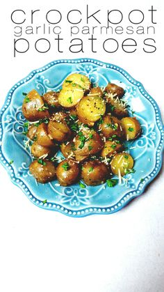 """It's always difficult to come up with easy dinner sides that are different. Crockpot garlic parmesan potatoes is a great way to go! It seems like there are the staple sides we use at our house everytime we need a side. I need something new! We never use potatoes, we use steamed veggies or salad. … Continue reading """"Crockpot Garlic Parmesan Potatoes"""""""