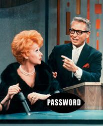 Had to post Allen and Lucy what could be better. Lucy loved game shows and password was one of her favorites.