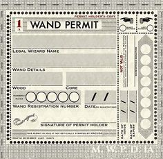 Prior to MACUSA legislation introduced in the late century made it mandatory for every witch and wizard in the United States of America to carry a wand permit. This measure was taken to keep track of all magical activity and quickly identify an