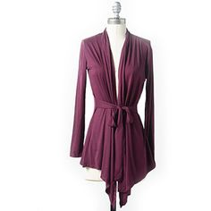 Fall Color Alert: Fig - Wear it with this Bella Bird Women's Essential Waist Tie Cardigan