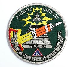 "Official launch patch of the NROL-32 Mission. See how it seems to be ""giving power"" to the All-Seeing Eye"