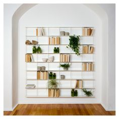 Make the most of your interior space with this white aluminium Krossing shelving unit.
