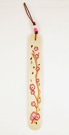 Bookmark  Wood  Natural  Pyrography