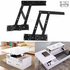 Lift Up Top (220LBS) Large Coffee Table Hardware Fitting Mechanism Spring Hinge