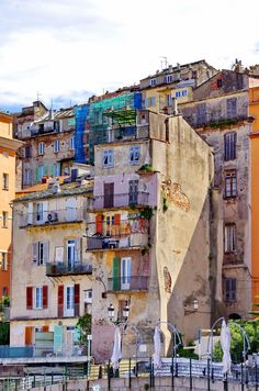Houses with Character in The Vieux Port of Bastia, Corsica, France France Europe, France Travel, Paris France, Places To Travel, Places To Visit, France Eiffel Tower, Pictures Of The Week, Amazing Architecture, Mediterranean Architecture