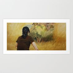Looking at Degas, Art Print by Helena Hsieh