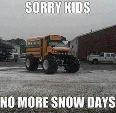 awww, sad...I love snow days