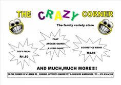 THE CRAZY CORNER  Family Variety Store