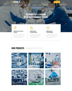 Zidex - Industrial & Factory WordPress Theme - ModelTheme Power Electronics, Electronics Components, Electronics Projects, Wordpress Theme, Circuit, Industrial, Technology, Tech, Industrial Music